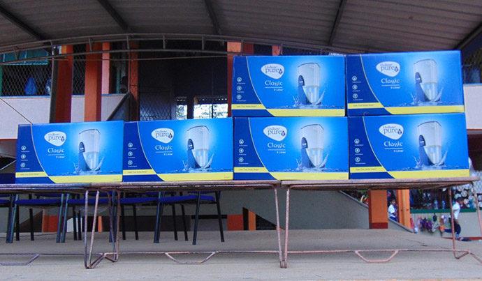 Wasserfilter für Flutopfer
